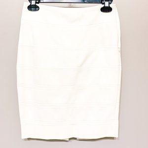 WHBM size 0 White Pencil Skirt